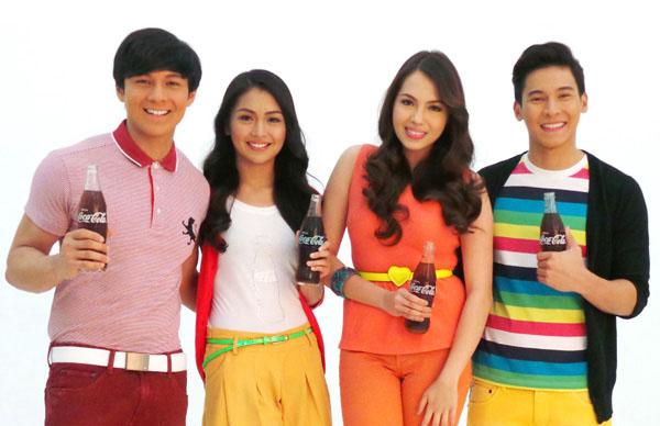 coca cola Joseph Marco, Kathryn Bernardo, Julia Montes and Enchong Dee
