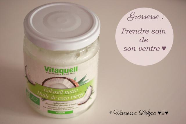 utiliser l'huile de coco pendant la grossesse contre les vergetures du ventre , Vanessa Lekpa