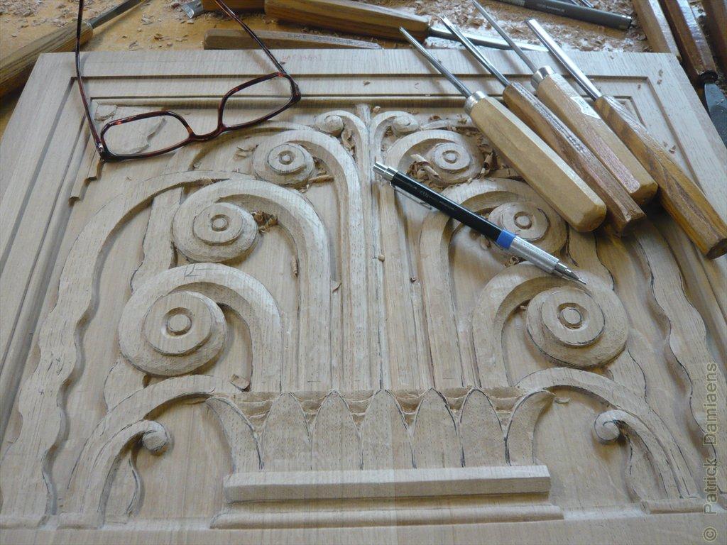Ornamental woodcarver patrick damiaens art deco style