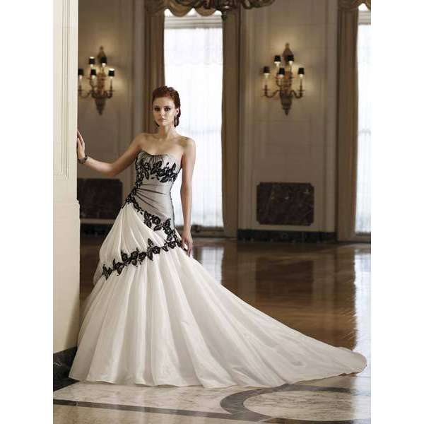 Wedding Dresses With Black And White