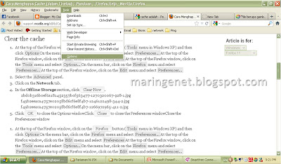 Menghapus cache, clear the cache, firefox