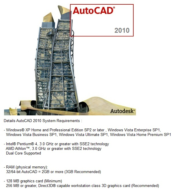 AutoCAD 2010 System Requirements