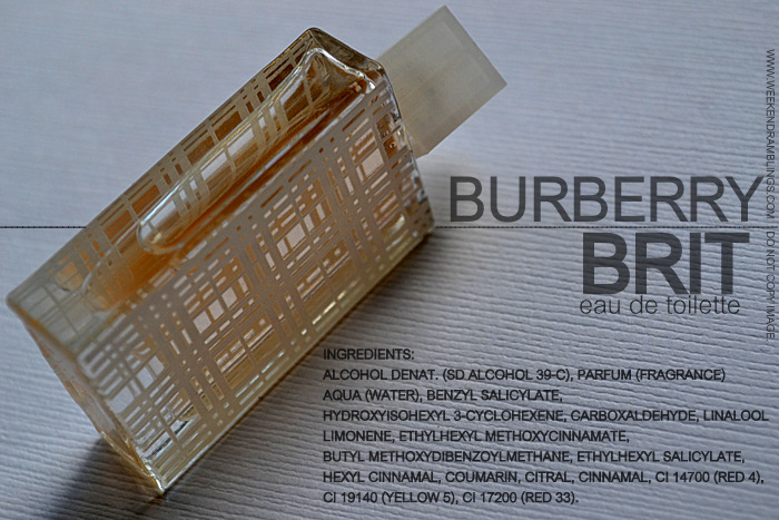 Burberry Brit Eau de Toilette EDT Designer Fragrance Perfumes for Women Indian Blog Makeup Beauty Reviews Ingredients
