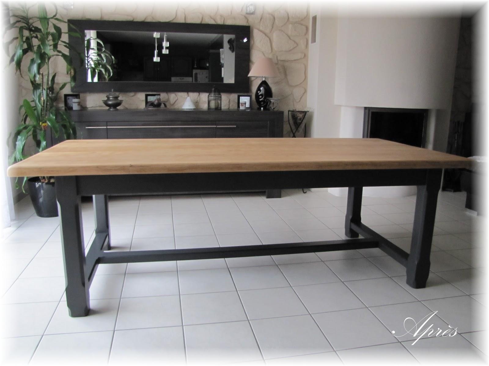 latest le relooking de meubles table de salle manger en chne with relooker une salle a manger en chene