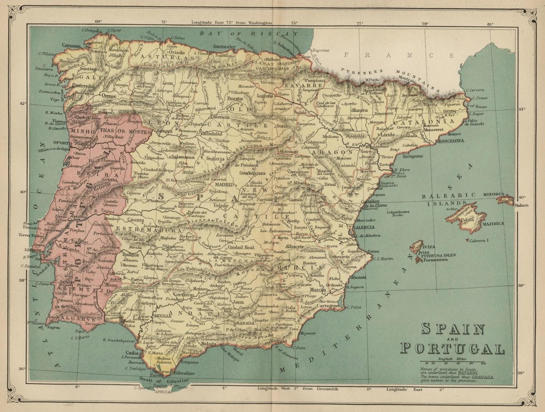España y Portugal, American Cyclopaedia 1883