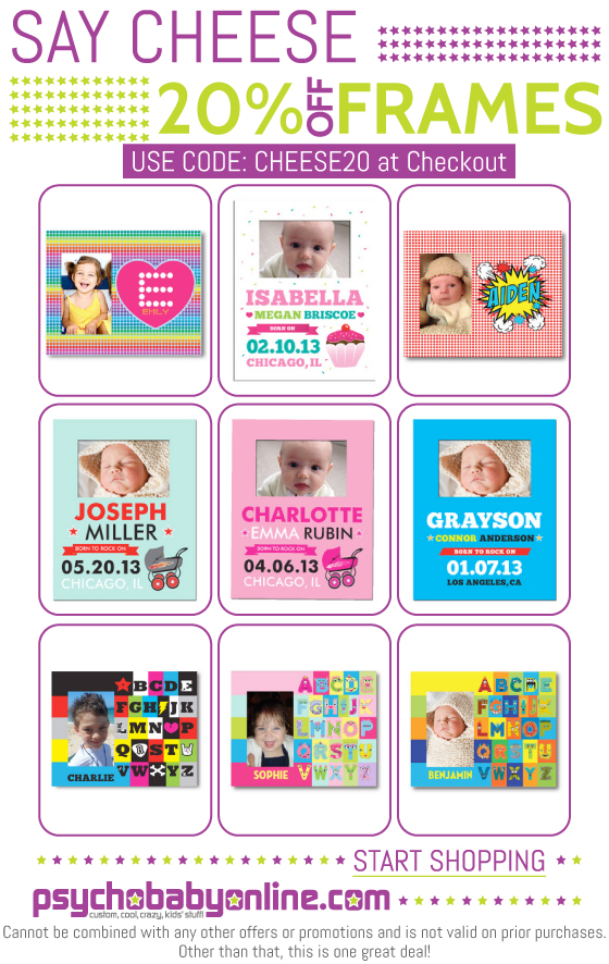 Personalized Picture Frames from Psychobaby