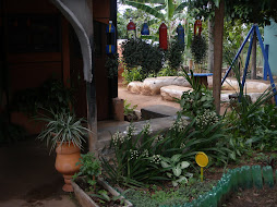 Detalhe da casa ecologica