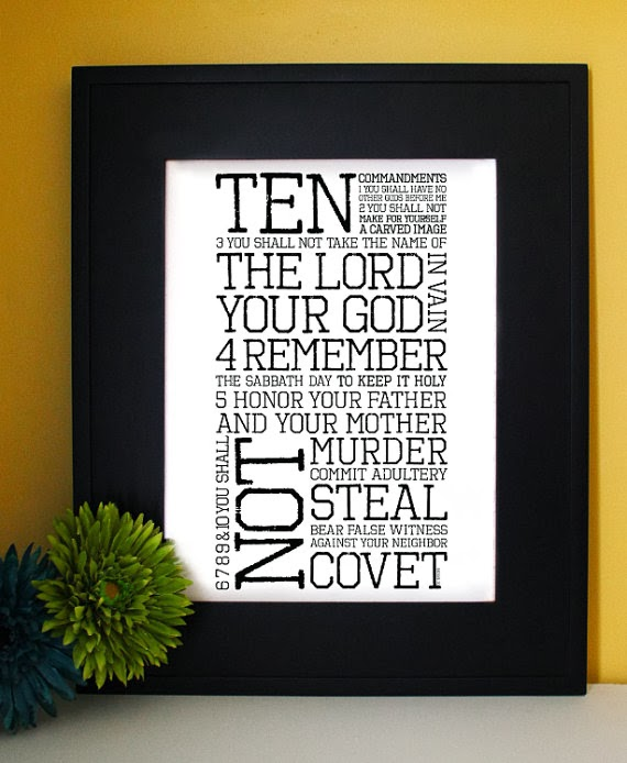 exodus 20 ten commandments inspirational word art byIve