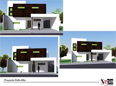 Fachada de casa minimalista con cochera techada tipo loft - Casa tipo loft ...