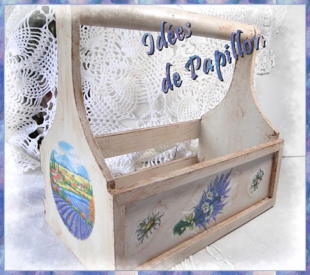 id es de papillon d coration d 39 un panier anse. Black Bedroom Furniture Sets. Home Design Ideas