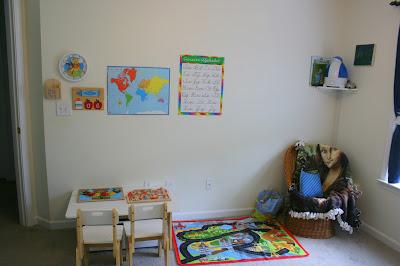 read aloud area homeschool room prek
