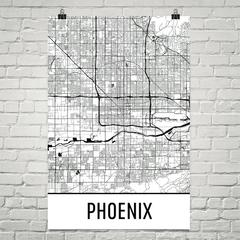 Phoenix Map by Modern Map Art