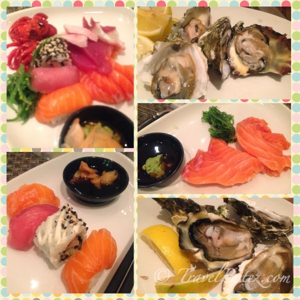 Sushi, Salmon sashimi and oyster!