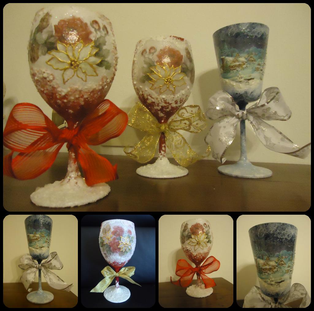 La bottega delle fate creative bicchieri natalizi - Bicchieri decorati per natale ...