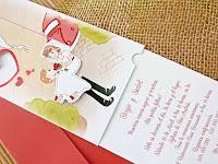 Invitacion de boda barata y divertida parte del texto