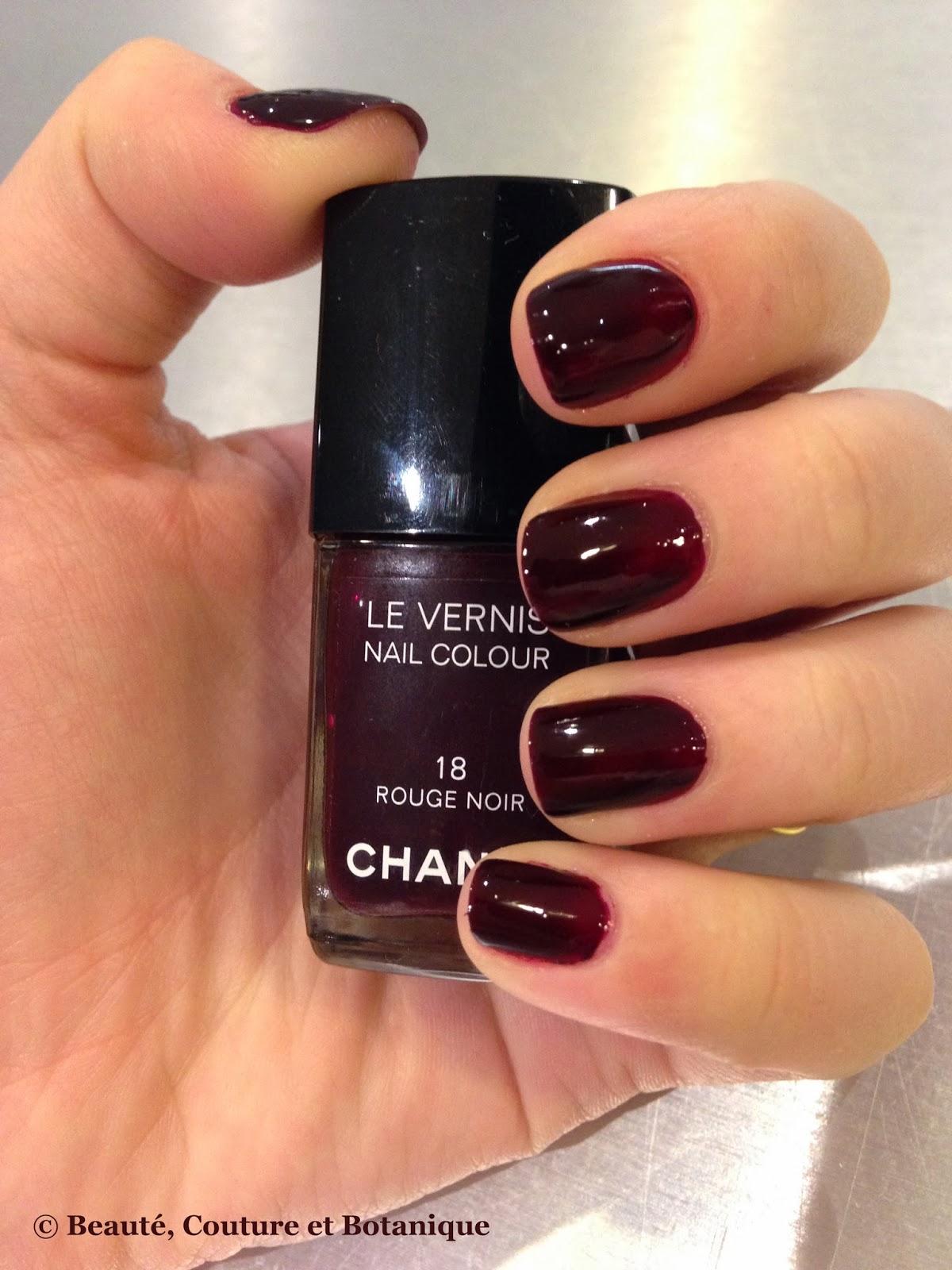 Noir Vernis Vernis Chanel Rouge Noir