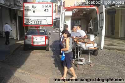 Mário Reis estaciona em vaga de ambulância