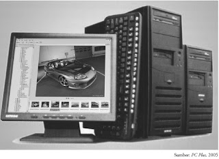 CPU komputer dan monitor