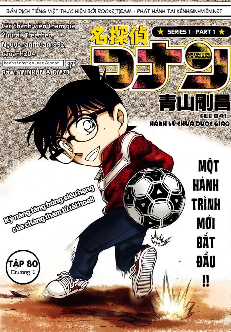Detective Conan - Thám Tử Lừng Danh Conan chap 841 page 2 - IZTruyenTranh.com