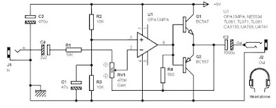 Input Stage Amplifier Circuit