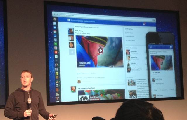 Mark Zuckerberg unveiled new newsfeed social network