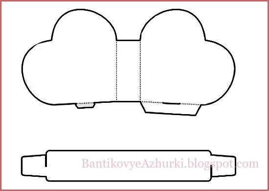Схема подарочной коробочки в виде сердечка