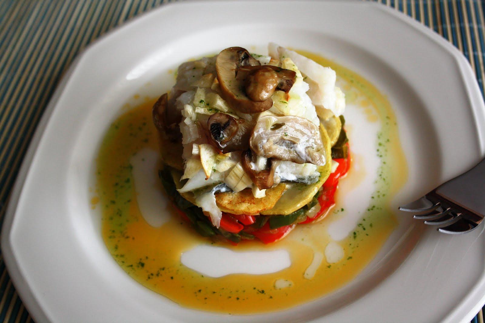 La cocina de maricarmen timbal de lomo de bacalao con - Cocinas maricarmen ...