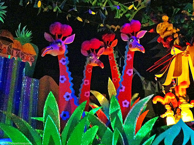 Small World Giraffes Disneyland ride animals Fantasyland