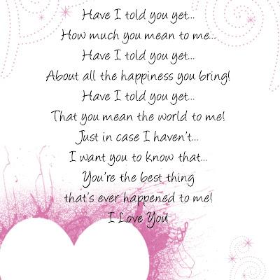 Romantic Love Poem for iPad Background