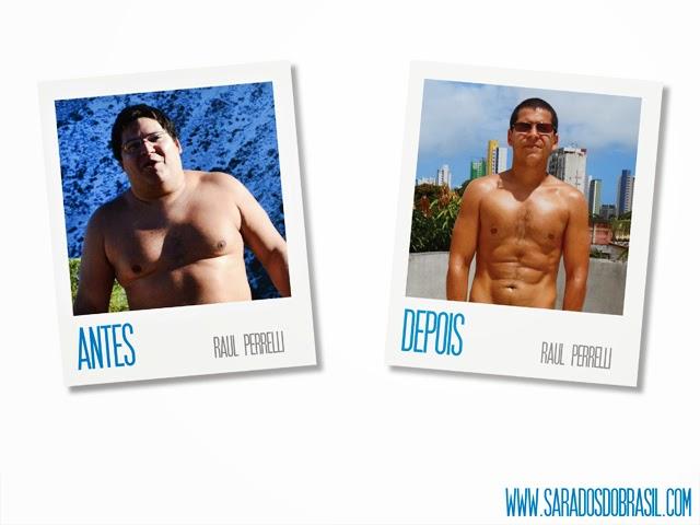 Em 2012, Raul Perrelli pesava 120 kg . Agora o biólogo pesa 78,5 kg.