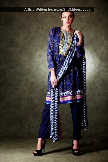 Un-Stitched Winter Dress Collection 2015