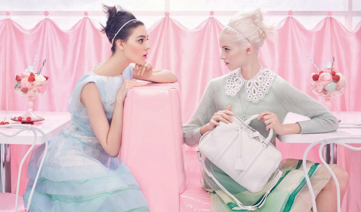Louis Vuitton Spring/Summer 2012 campaign  Katie Nescher & Daria Strokus photographed by Steven Meisel and styled by Karl Templer