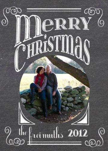 bonhomieDESIGN custom printable holiday photo cards