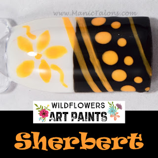 Wildflowers Nail Art Paint Sherbert