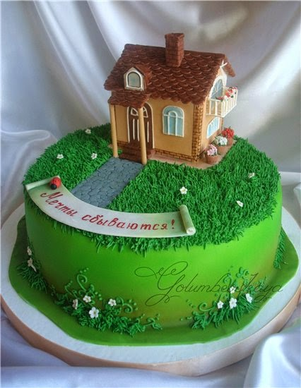Как сделать дом из мастики для тортов