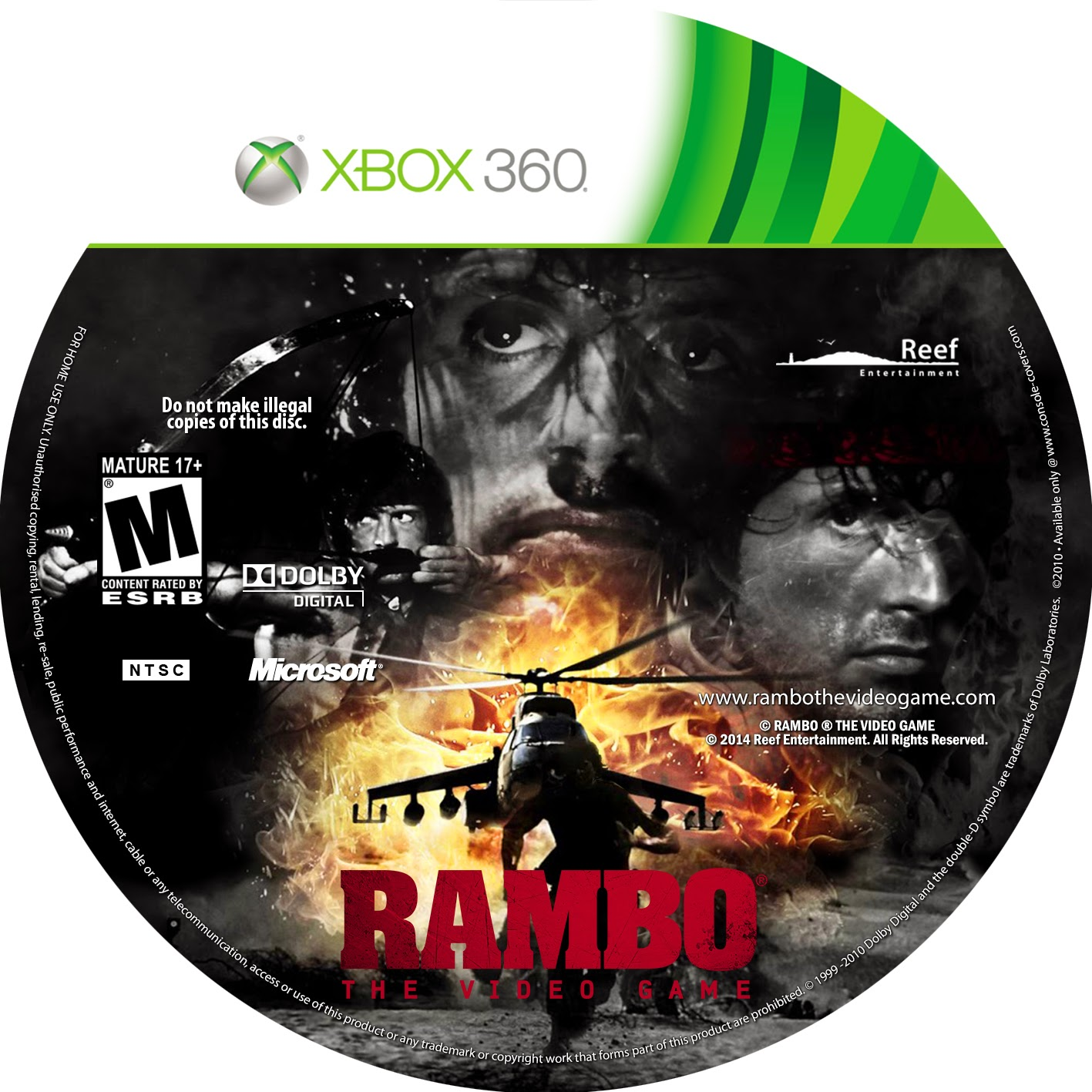 Capa Rambo The Video Game XBOX 360