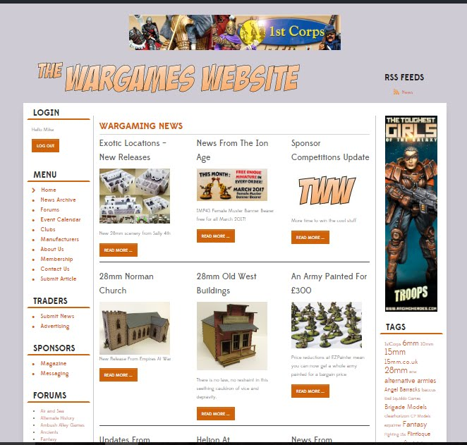 Proud Member of The Wargames Website