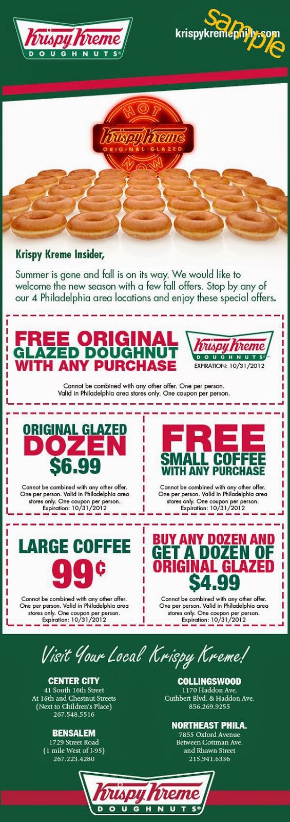 Krispy kreme printable coupons uk