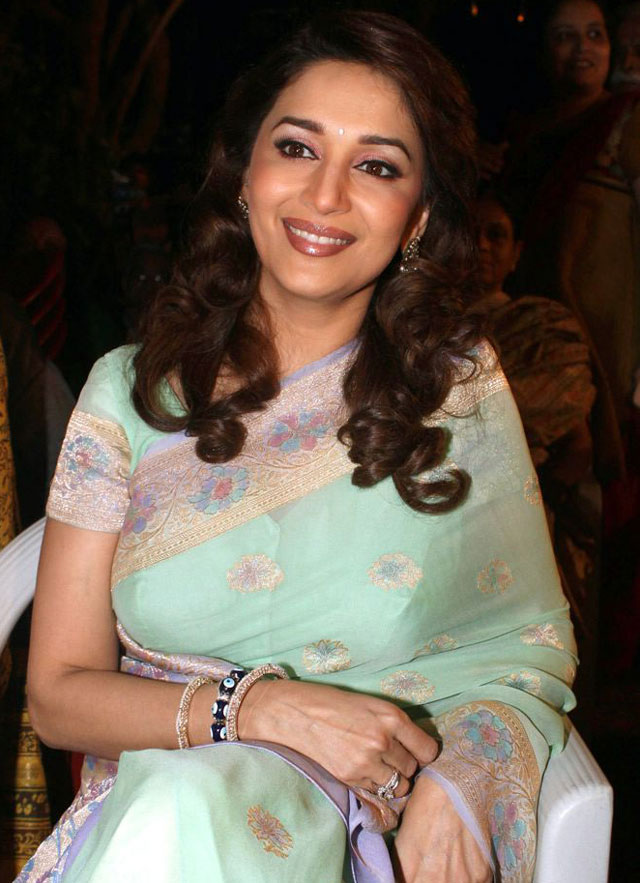 Madhuri Dixit in Saree at Hamara Juhu Festival