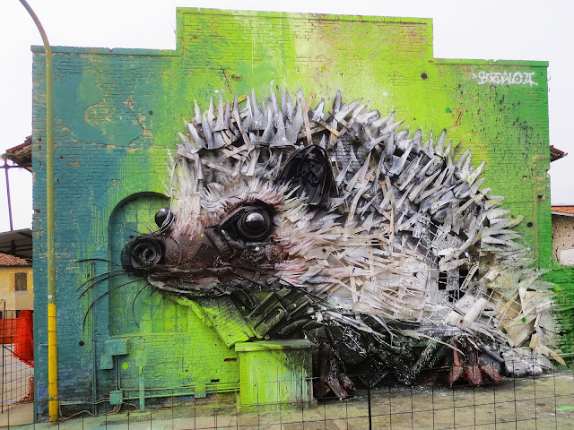While we last heard from him in Las Vegas, Bordalo II is back in Europe where he just finished working on a new installation in Italy.