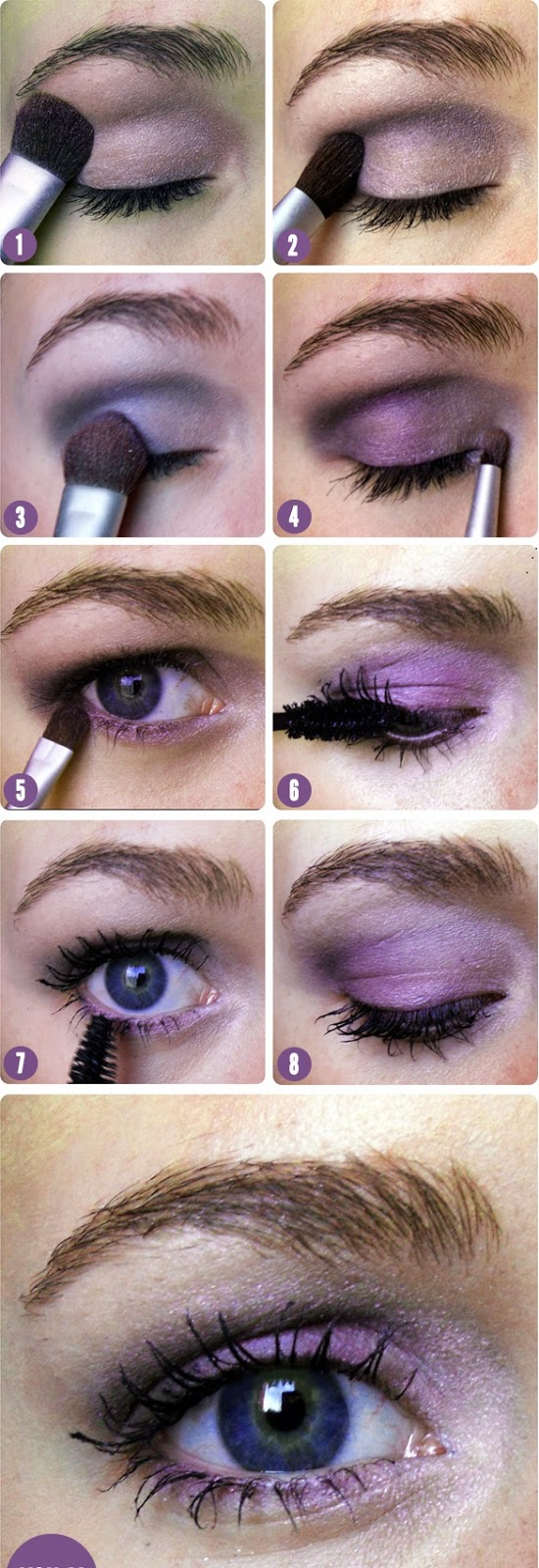 Purple Shadow , Shades of Lilac atop Blue Eyes Create an Analogous Color Scheme Perfect for Spring
