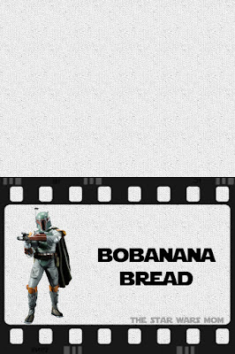 Bobanana Bread Free Printable Star Wars Party Food Label