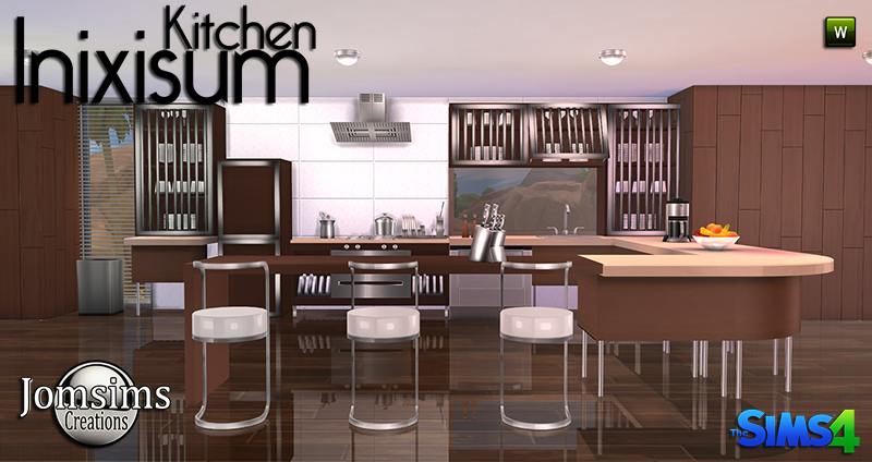 My sims 4 blog inixisum kitchen set by jomsims for Kitchen set sims 4