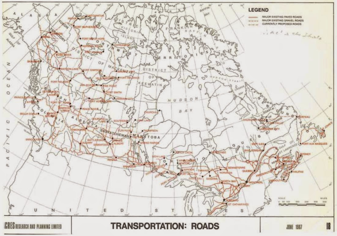the road coverage as of 1967 certainly leaves something to be desired but the rail networks seem to offer reasonable coverage of the corridor