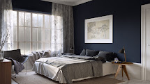 Royal Blue and Gray Bedrooms