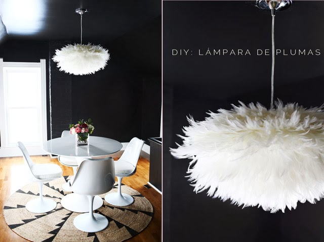 Diy l mpara de plumas diy vs l mpara whisper feather - Lamparas de plumas ...