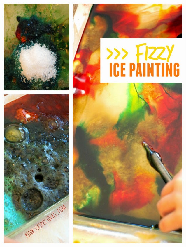 fizzy ice-painting- a fun, fizzy, and colorful activity that will keep your child entertained!