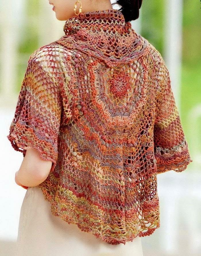 Crochet Jacket Pattern : Crochet Sweater: Crochet Bolero Jacket - Beautiful Lace