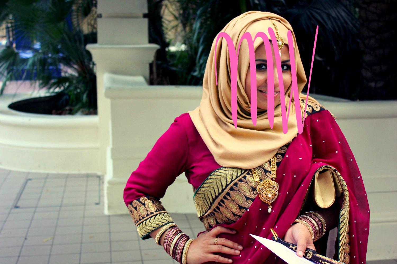 Hijab with Saree