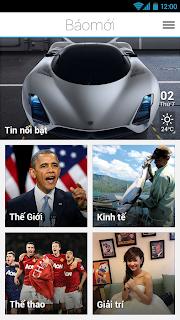 Phần mềm đọc Báo Mới trên Android